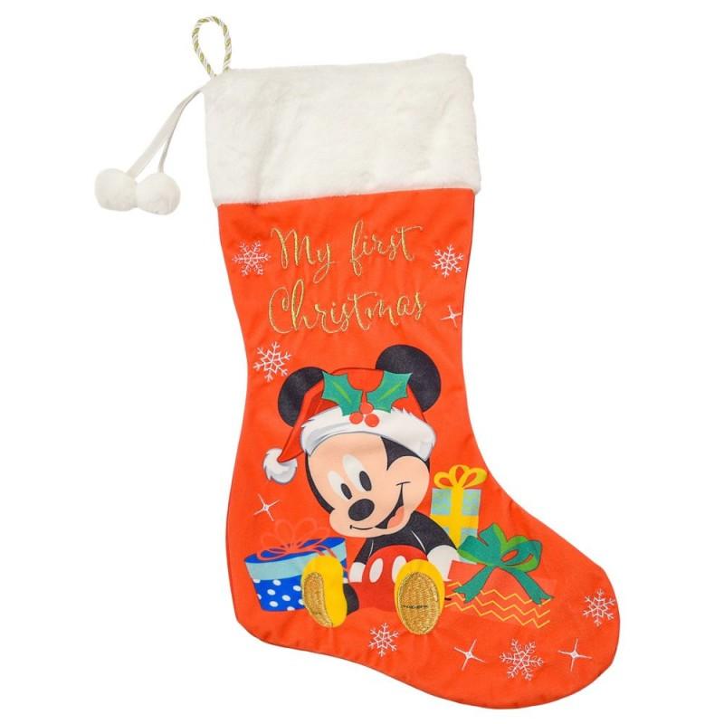 Cizmulita pentru cadouri First Christmas Mickey