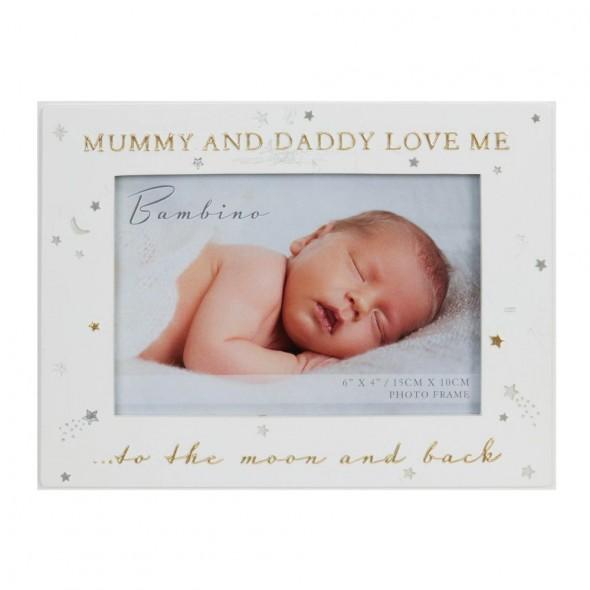 Rama foto Mummy and Daddy love Me, Bambino by Juliana, alba