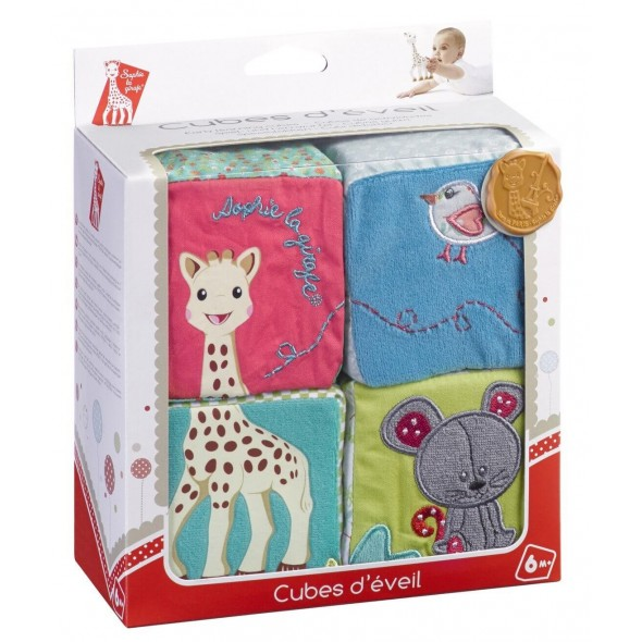 Cuburi educative din plus girafa Sophie Vulli