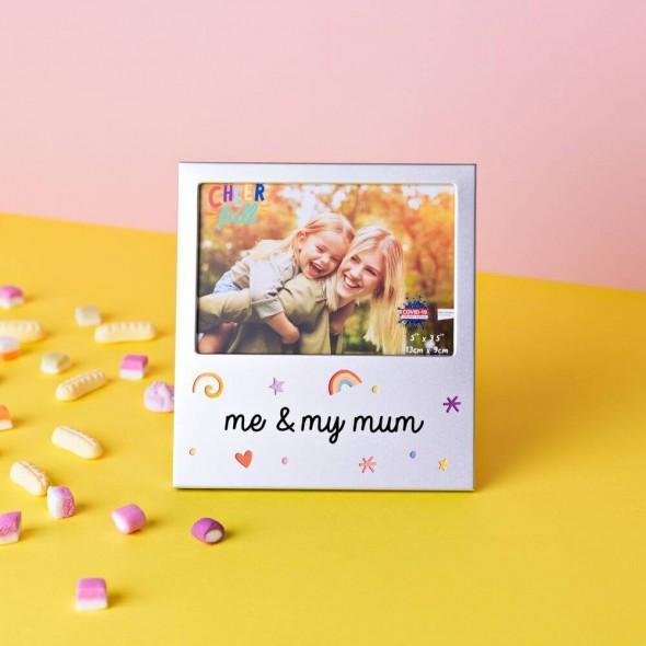 Rama foto din aluminiu me and my mum