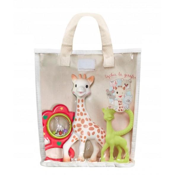 Set cadou saculet Girafa Sophie Vulli