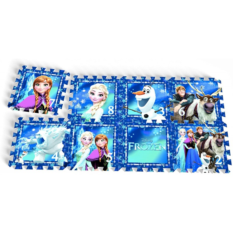 Covoras Puzzle Frozen 8 piese Knorrtoys krbaby.ro