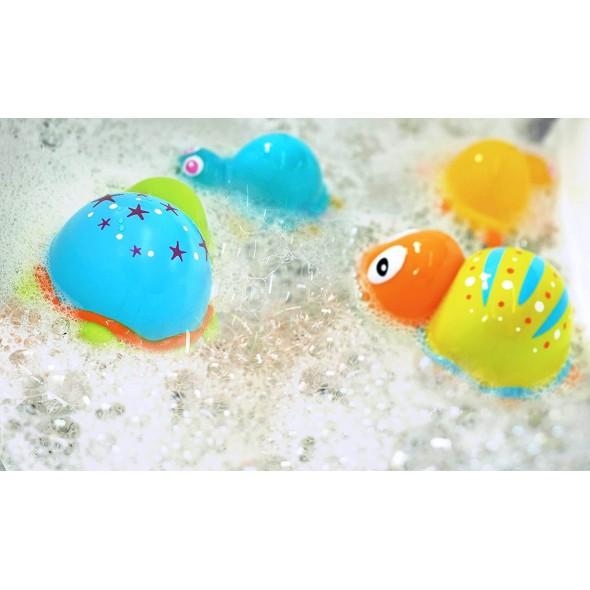 Jucarie de baie Familia testoaselor colorate Escabbo krbaby.ro