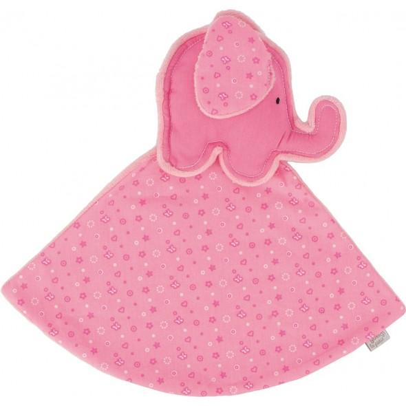 Jucarie mini paturica elefantel roz Goki