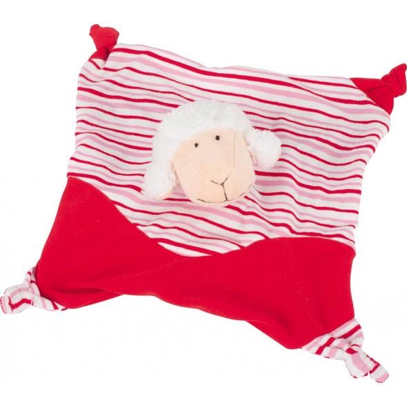 Jucarie mini paturica rosie cu oita Goki