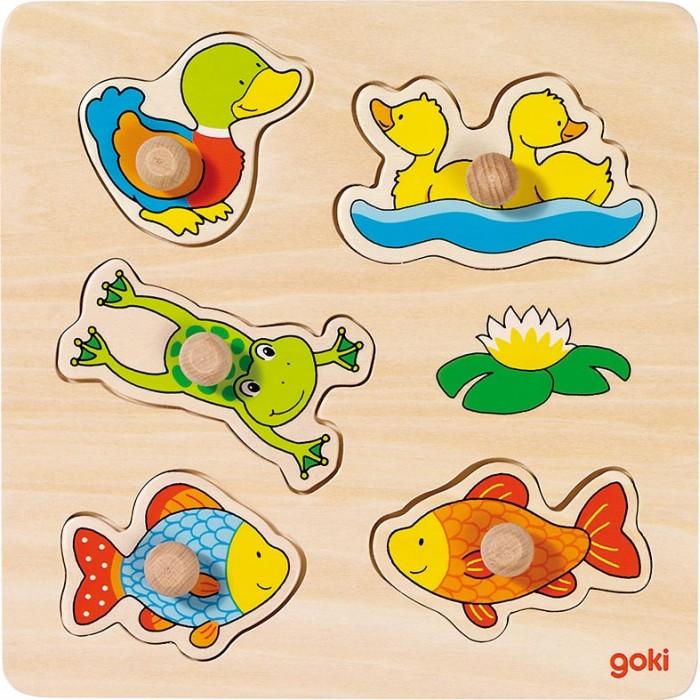 Puzzle din lemn cu animale de apa Goki
