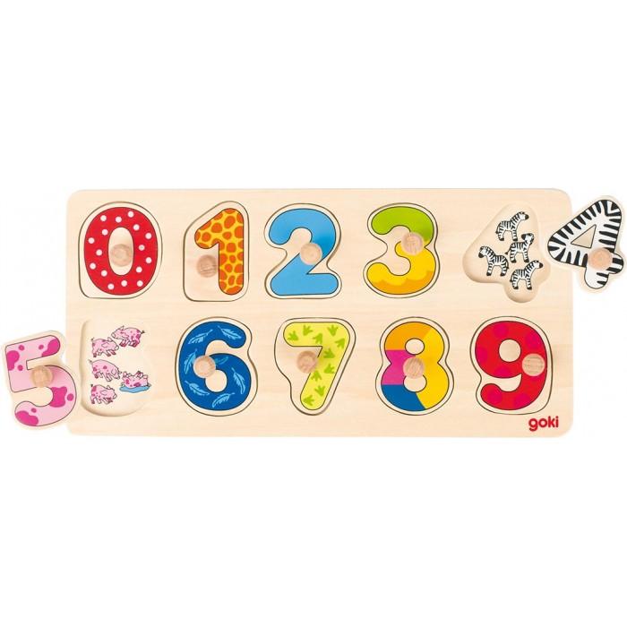 Puzzle din lemn cu cifre Goki