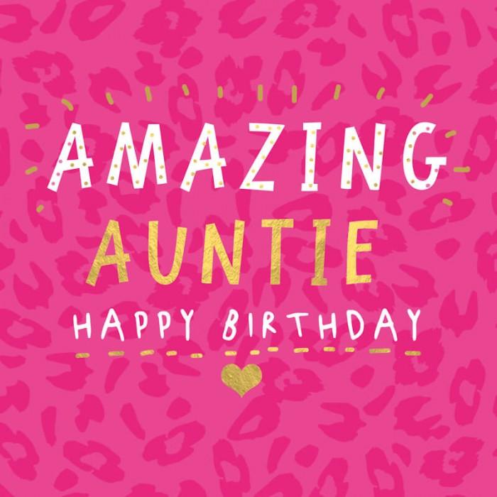 Felicitare pentru matusa Amazing Auntie