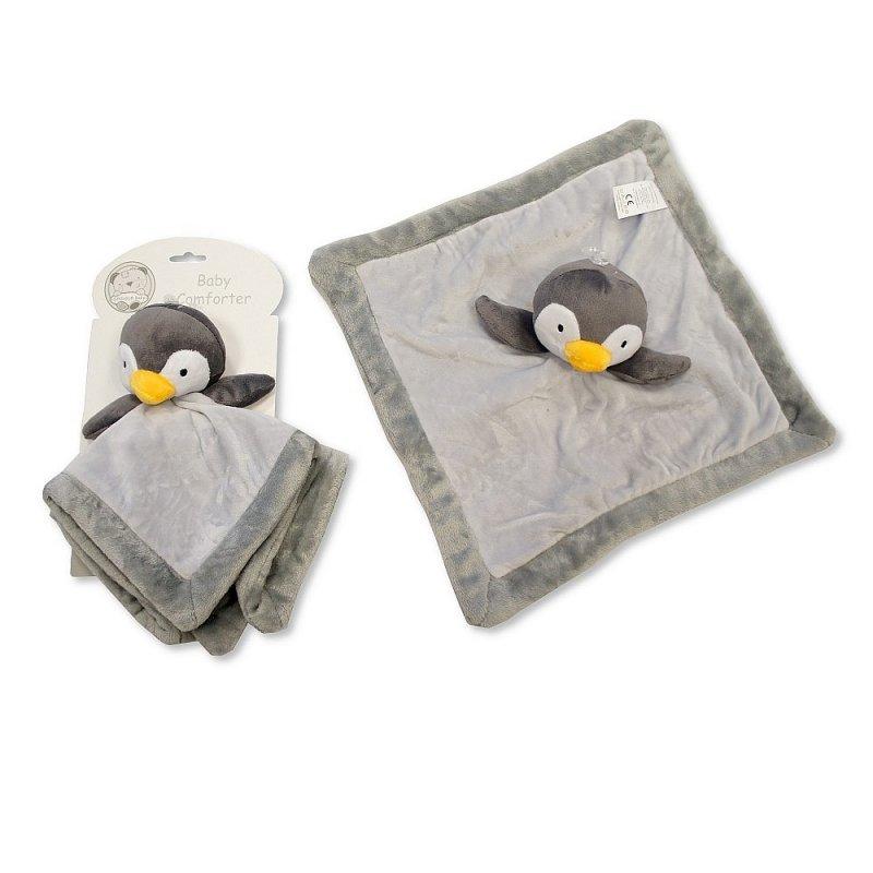 Jucarie pinguin cu paturica Snuggle Baby