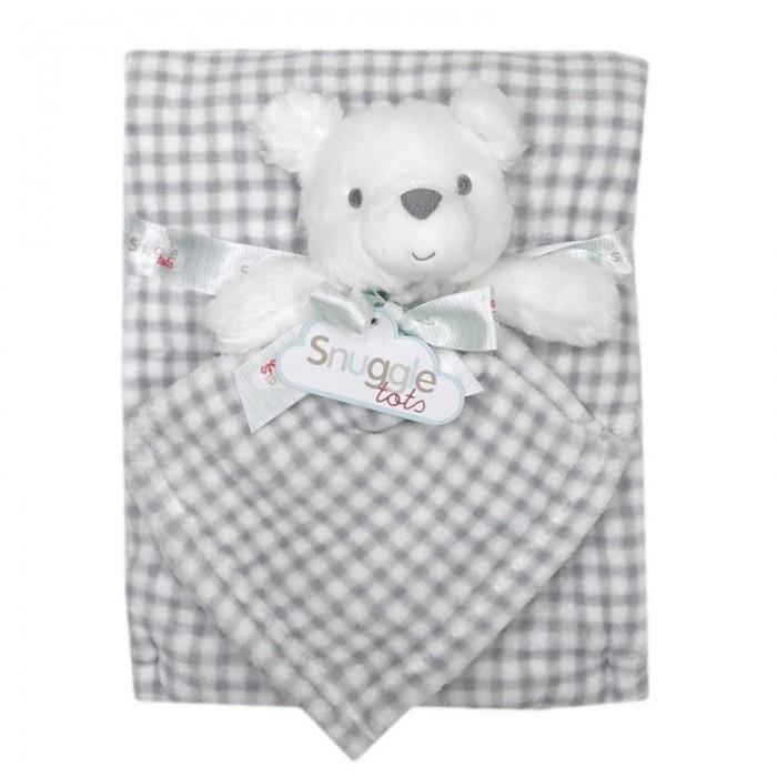 Set cadou pentru bebelusi cu jucarie plus si paturica - model ursulet