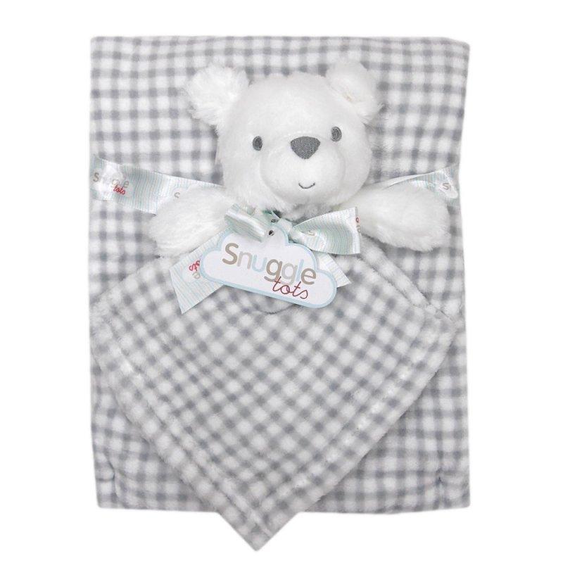 Set cadou pentru bebelusi cu jucarie plus si paturica - model ursulet krbaby.ro