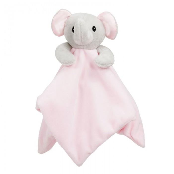 Jucarie cu paturica elefantel roz Soft Touch