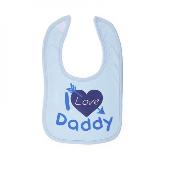Baveta I love daddy bleu