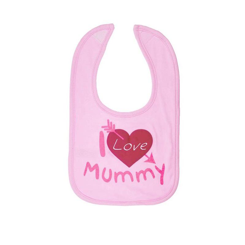 Baveta I love mummy roz