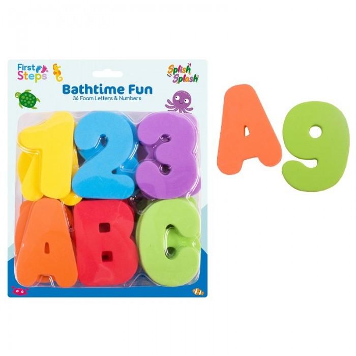First Steps - Set 36 de litere si cifre din spuma