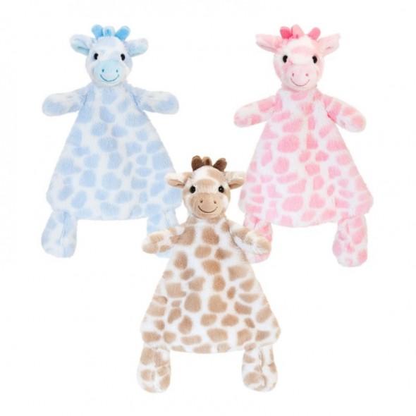 Keel Toys - Jucarie mini paturica cu girafa