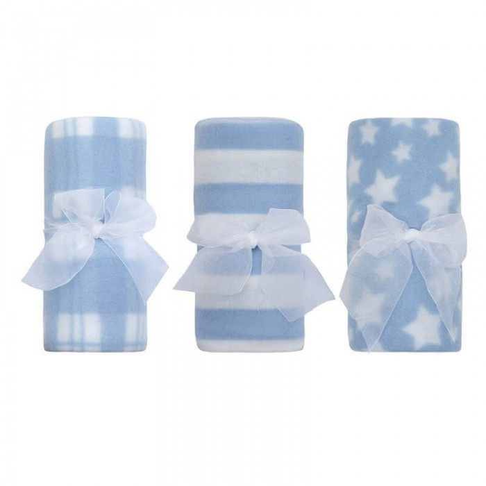 Paturica bebe din fleece bleu Baby Town