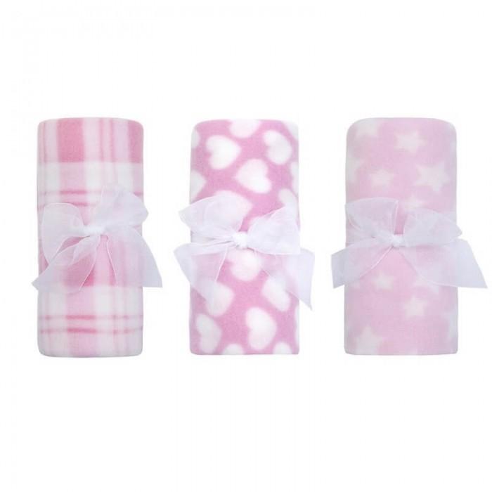 Paturica bebe din fleece roz Baby Town