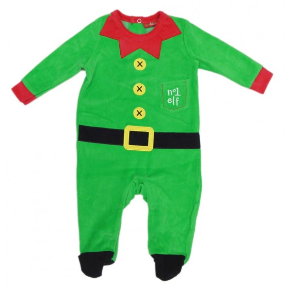 Salopeta Craciun pentru bebelusi model elf
