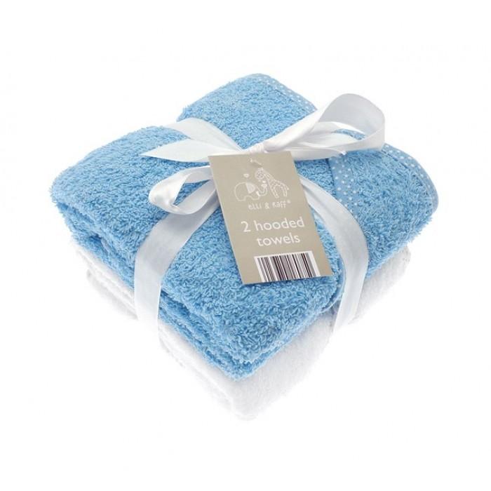 Set cadou 2 prosoape de baie bleu pentru bebelusi Elli and Raff