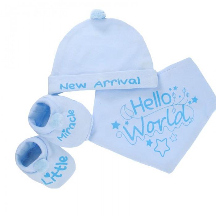 Set cadou 3 piese bleu Hello World