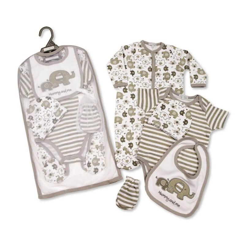 Set cadou hainute bebelusi 5 piese model elefantel krbaby.ro