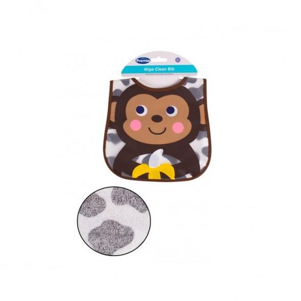 Baveta impermeabila cu spate din prosop model maimutica Premia