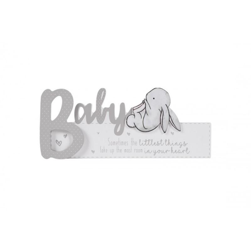 Hugs and Kisses - Placuta cu iepuras Baby krbaby.ro