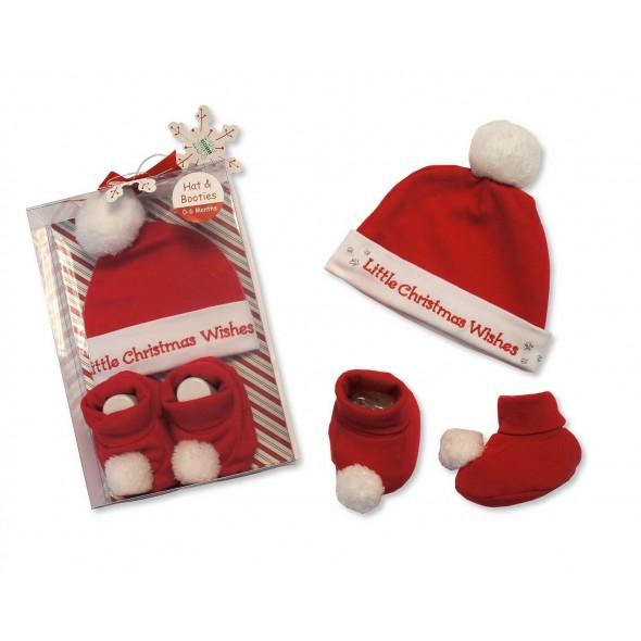 Set cadou Craciun cu caciulita si botosei Little Christmas Wishes