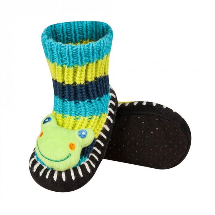 Sosete bebelusi tricotate antiderapante - model broscuta