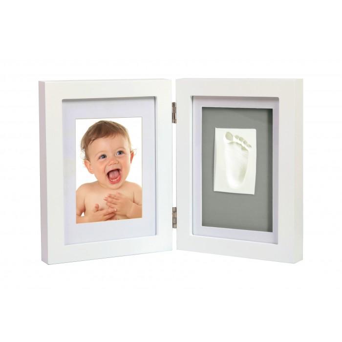 Adora - Kit rama foto dubla cu amprenta mulaj manuta sau piciorus