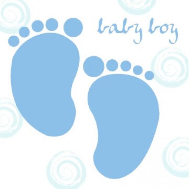 Felicitare New Baby Boy - model picioruse