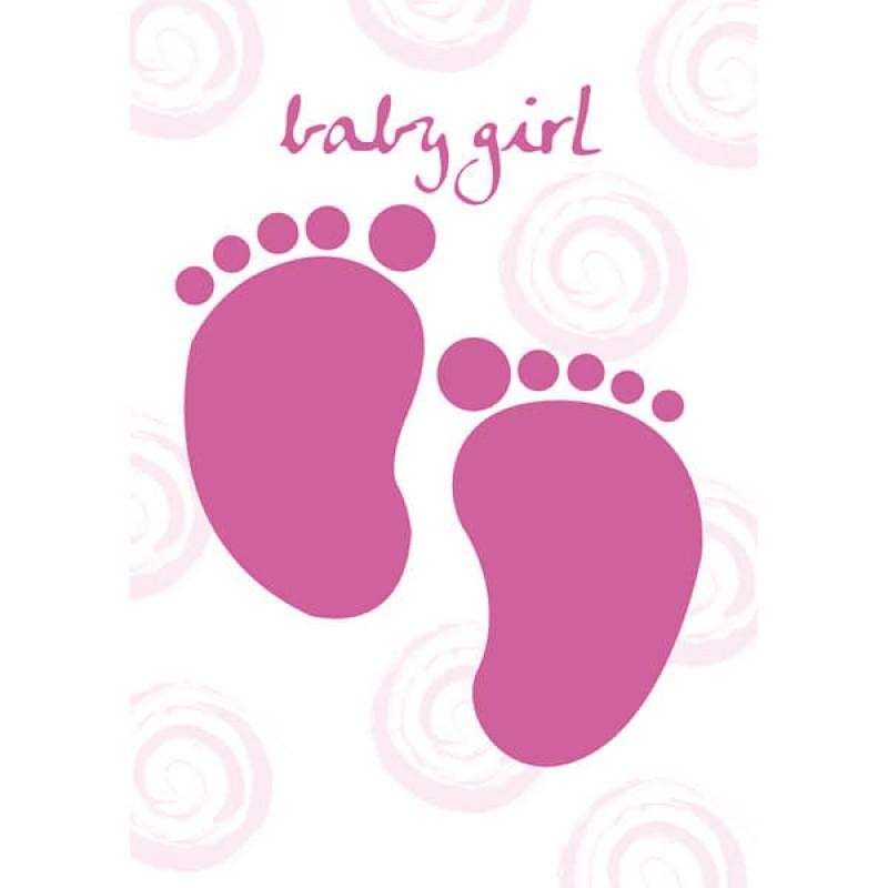 Felicitare New Baby Girl - model picioruse krbaby.ro