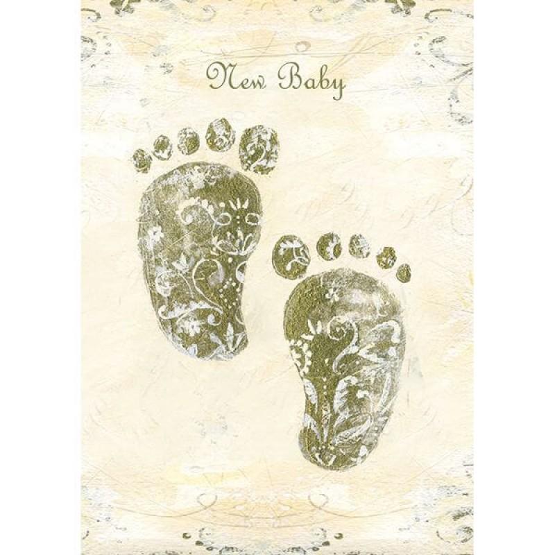 Felicitare New Baby - model picioruse krbaby.ro
