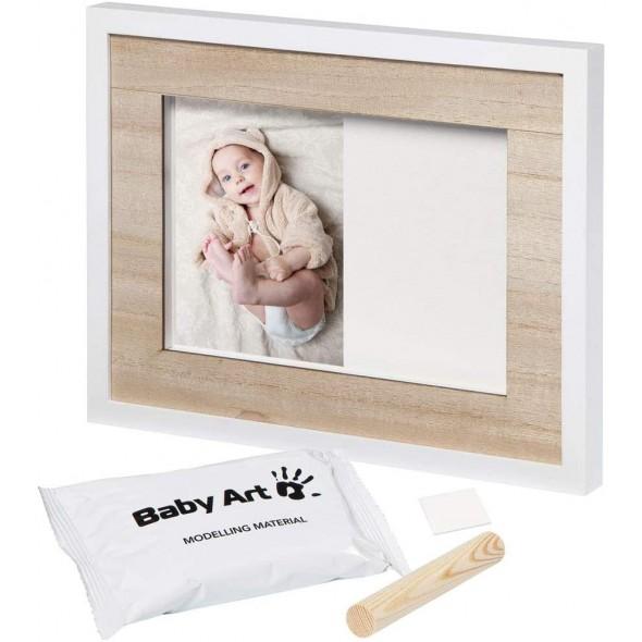 Rama foto din lemn cu amprenta Tiny Style Baby Art