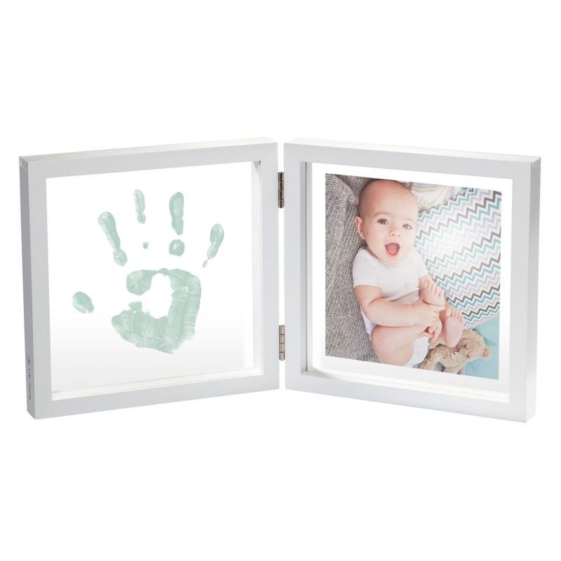 Rama foto transparenta cu amprenta vopsea Baby Art krbaby.ro