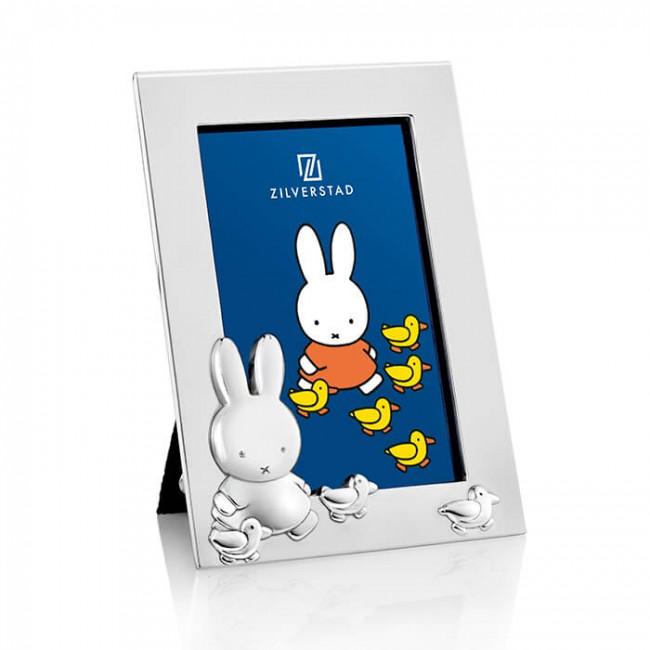 Rama foto argintata Miffy