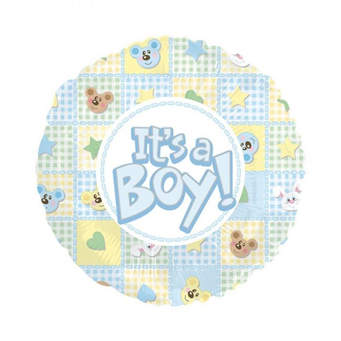 Balon din folie ursuleti si iepurasi It is a Boy 45 cm