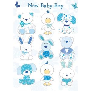 Felicitare animalute haioase New Baby Boy