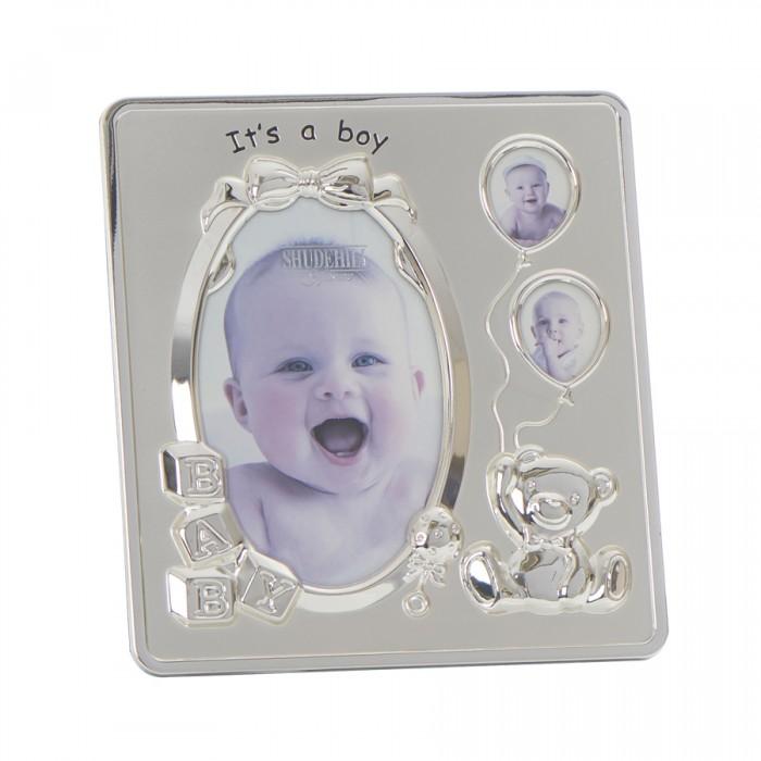 Rama foto argintata It's a Boy