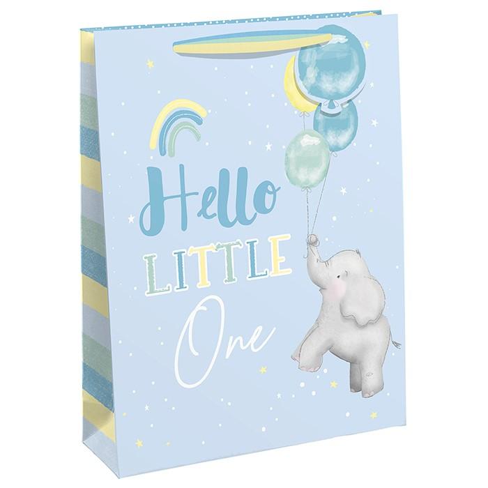 Punga de cadou cu elefantel si baloane Hello Little One XL
