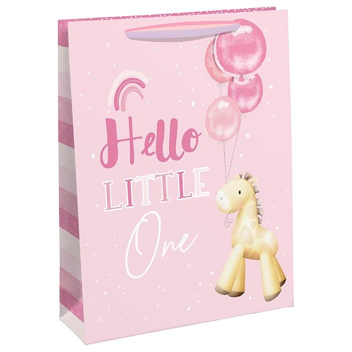 Punga de cadou cu girafa si baloane Hello Little One medie