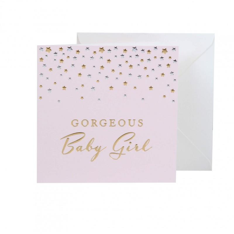 Bambino by Juliana - Felicitare nastere fetita Gorgeous Baby Girl krbaby.ro