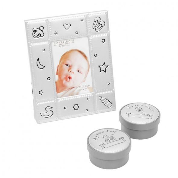 Juliana - Set cadou rama foto, cutiute suvita si dintisor