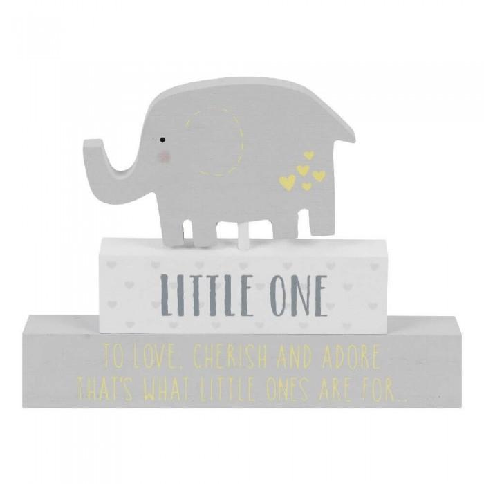 Placuta gri cu elefant Little One Celebrations