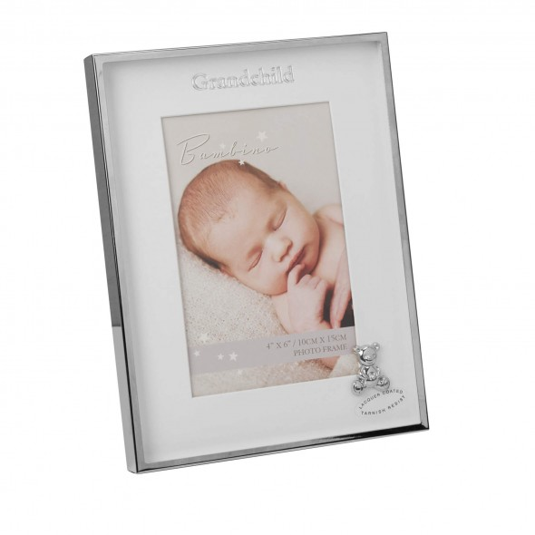 Bambino by Juliana - Rama foto argintata cu ursulet Grandchild