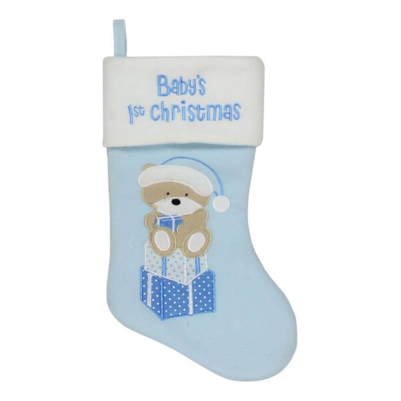 Cizmulita bleu pentru cadouri primul Craciun al bebelusului krbaby.ro
