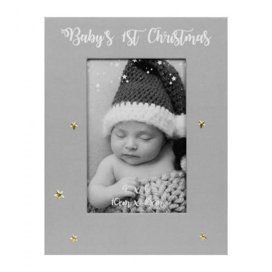 Rama foto gri Baby's First Christmas