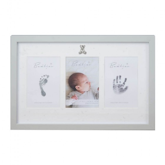 Bambino by Juliana - Rama foto gri pentru amprentele bebelusului