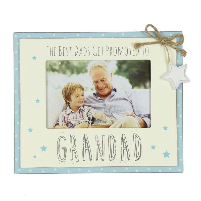 Rama foto cadou pentru bunicul Dad promoted to Grandad krbaby.ro